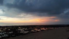 Por do sol da maré baixa Foto de Stock
