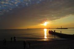 Por do sol da mola Fotos de Stock Royalty Free
