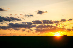 Por do sol da mola de Midwest Foto de Stock Royalty Free