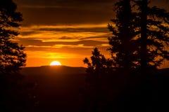 Por do sol da montanha foto de stock royalty free