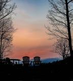Por do sol da montanha em North Carolina Fotografia de Stock Royalty Free