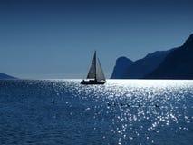 Por do sol da navigação Foto de Stock