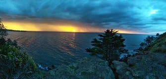 Por do sol da noite Imagens de Stock Royalty Free
