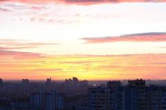 Por do sol da noite Imagem de Stock