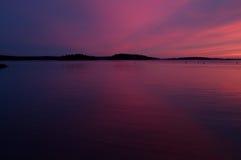 Por do sol da noite de verão. Imagem de Stock Royalty Free