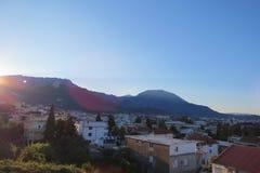 Por do sol da noite em Montenegro Imagens de Stock Royalty Free