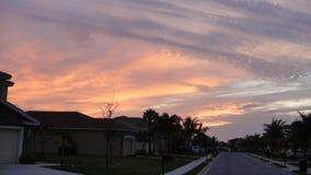 Por do sol da noite no recurso fotos de stock royalty free
