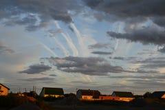 Por do sol da paisagem Imagens de Stock Royalty Free