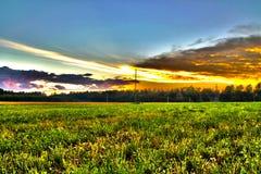 Por do sol da paisagem Imagens de Stock