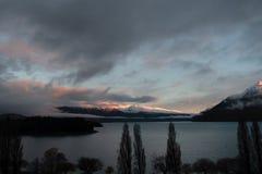 Por do sol da paisagem em remarkables Fotografia de Stock