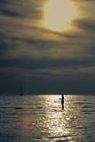 Por do sol da praia Fotos de Stock