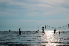Por do sol da praia Imagem de Stock Royalty Free