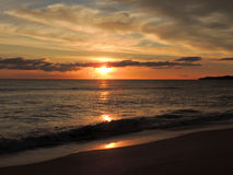 Por do sol 004 da praia Imagens de Stock