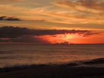 Por do sol 007 da praia Imagens de Stock