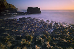 Por do sol da praia de Davenport Imagem de Stock