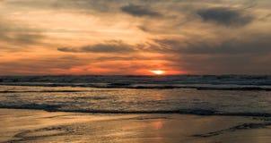 Por do sol da praia de Grayland Foto de Stock Royalty Free