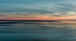 Por do sol da praia de Grayland Fotografia de Stock Royalty Free