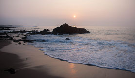 Por do sol 2 da praia de Paukaa Fotografia de Stock Royalty Free