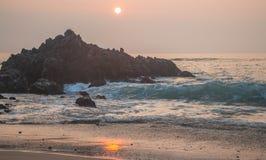 Por do sol da praia de Puako Imagens de Stock