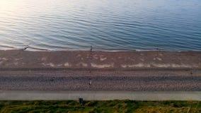 Por do sol da praia de Reculver Imagem de Stock