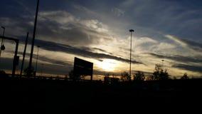 Por do sol da queda Imagem de Stock Royalty Free