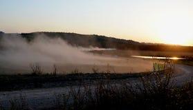 Por do sol da reunião Imagem de Stock Royalty Free