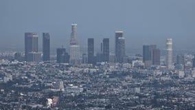 Por do sol da skyline de Los Angeles video estoque