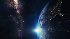Por do sol da terra Imagem de Stock