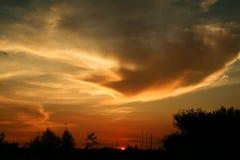Por do sol da vida de cidade Fotografia de Stock