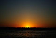 Por do sol das Amazonas Fotografia de Stock