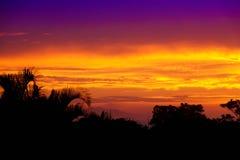 Por do sol das caraíbas sobre Sosua Fotos de Stock Royalty Free