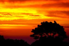 Por do sol das caraíbas sobre Sosua Foto de Stock