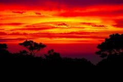 Por do sol das caraíbas sobre Sosua Fotografia de Stock Royalty Free