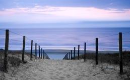 Por do sol das dunas Fotografia de Stock