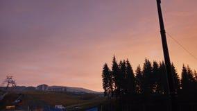 Por do sol das montanhas Imagem de Stock Royalty Free