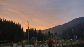 Por do sol das montanhas Imagem de Stock