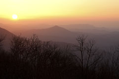 Por do sol das montanhas do Snowbird Imagem de Stock Royalty Free