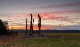 Por do sol das opiniões de Penrith às montanhas azuis Fotos de Stock Royalty Free