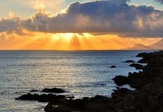 Por do sol de Achill fotografia de stock royalty free