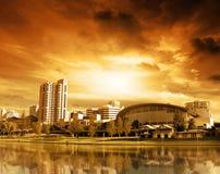Por do sol de Adelaide Imagem de Stock