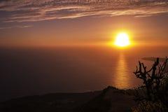 Por do sol de Alghero Fotos de Stock