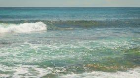 Por do sol de Art Beautiful sobre a praia tropical vídeos de arquivo