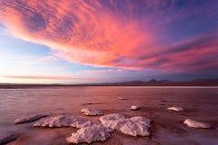 Por do sol de Atacama Imagem de Stock