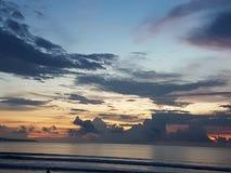 Por do sol de Bali Fotografia de Stock