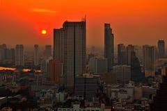 Por do sol de Banguecoque Foto de Stock Royalty Free