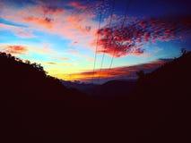 Por do sol de Beautifull foto de stock royalty free