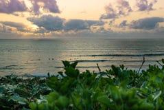 Por do sol de Biarritz Surfspot imagens de stock