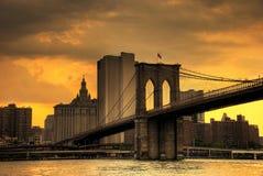 Por do sol de Brooklyn Imagem de Stock Royalty Free