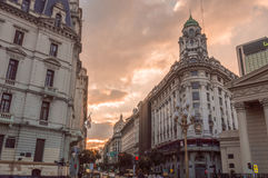Por do sol de Buenos Aires Foto de Stock Royalty Free