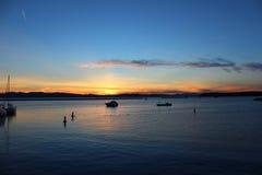 Por do sol de Burlington Imagens de Stock